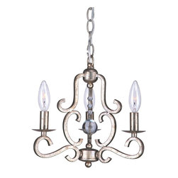 Crystorama - Crystorama Orleans 1 Tier Chandelier in Olde Silver - Shown in picture: Old Silver Chandelier; Old Silver Chandelier draped with Clear Hand Cut Beads with Antique Pinning