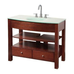 """Foremost - Foremost Danbury 42 Vanity Combo with Glass Vanity Top & Sink (DBCA4222) - Foremost DBCA4222 Danbury 42"""" Vanity Combo with Glass Vanity Top & Sink, Dark Cherry"""