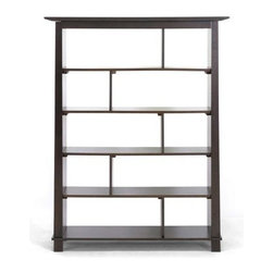 Wholesale Interiors - Baxton Studio Havana 56.3 in. Tall Bookcase - Simultaneously having a classic and contemporary feel, the Havana Bookcase is a versatile design with just the right touch for a sophisticated, casual living space.