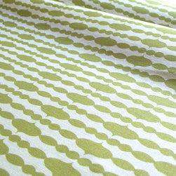Organic Fabric - Raindrops Split Pea - Certified Organic Cotton/Hemp blend, 8-11oz, Printed in USA