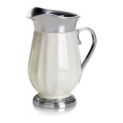 Mikasa - Mikasa Countryside Water Pitcher - A complete set of serveware is available to compliment your Countryside dinnerware and flatware, assuring a classically stylish yet casual dining statement every time you entertain.