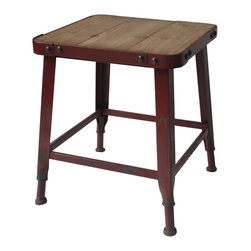 Moe's Home Collection - Moe's Home Yale End Table in Red - Industrial look
