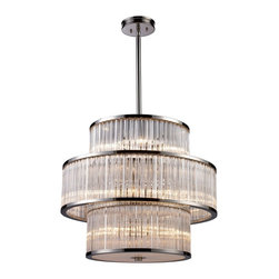 Braxton 15 Light Pendant - This 15 light Pendant from the Braxton collection by ELK will enhance your home with a perfect mix of form and function. The features include a Polished Nickel finish applied by experts.