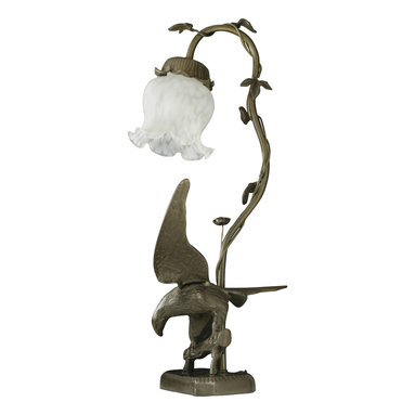 Meyda Tiffany - Meyda Tiffany Antique Reproductions Table Lamp in Tiffany Items - Shown in picture: Strike Of The Eagle White Accent Lamp