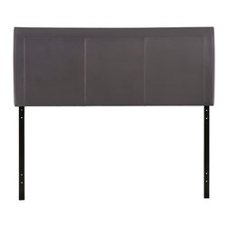 Isabella Queen Vinyl Headboard - Reach back to the height of fashion with the Isabella padded faux leather headboard. Finely upholstered stitching develop an array of three columns supported by a generous border all around. Instead of fading away behind the other elements of your room's decor, Isabella holds tight to its prominence. It is a piece that is pleasing to the eye, while presenting a design that is at once clean and complex.
