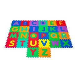 Foam Floor Alphabet Puzzle Mat For Kids - 26 pc Set - Soft and durable, the Foam Floor Alphabet Puzzle Mat For Kids - 26 pc Set covers a 7 x 4-foot area when all tiles are used and they easily wipe clean with a damp cloth. Thanks to their interlocking design, this tile set lets you create a play space sized just right for your needs. These tiles are perfect for classrooms, daycares, or your home.About Trademark Global Inc.Located in Lorain, Ohio, Trademark Global offers a vast selection of items for your home and lifestyle. Whether you need automotive products, collectibles, electronics, general merchandise, home and garden items, home decor, house wares, outdoor supplies, sporting goods, tools, or toys, Trademark Global has it at a price you can afford. Decor items and so much more are the hallmark of this company.