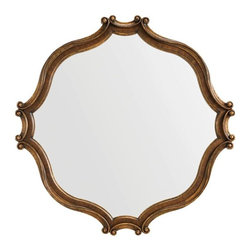 Stanley Furniture - Villa Fiora Wall Mirror - Like a well-loved antique, the open-grained, matte finish of Villa Fiora is warm and familiar. Graceful sea scroll borders reflect the silhouette of the beds.