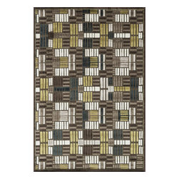 """Loloi Rugs - Loloi Rugs Halton Collection - Brown / Teal, 5'-3"""" x 7'-7"""" - The colors are vivid and the transitional designs are appealing, but what really stands out in Halton is the details. Take a closer look (or zoom in) and you'll notice Halton was expertly designed with subtle shadings and intricate patterns to give it the appearance of a hand-crafted rug. Power loomed in Turkey, the viscose surface is raised against a chenille base, giving Halton an element of dimension and texture that adds character and enhances perceived value. Also, the viscose surface has an irresistible shimmer, which further adds to its sophisticated appearance."""