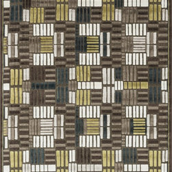 "Loloi Rugs - Loloi Rugs Halton Collection - Brown / Teal, 3'-10"" x 5'-7"" - The colors are vivid and the transitional designs are appealing, but what really stands out in Halton is the details. Take a closer look (or zoom in) and you'll notice Halton was expertly designed with subtle shadings and intricate patterns to give it the appearance of a hand-crafted rug. Power loomed in Turkey, the viscose surface is raised against a chenille base, giving Halton an element of dimension and texture that adds character and enhances perceived value. Also, the viscose surface has an irresistible shimmer, which further adds to its sophisticated appearance."