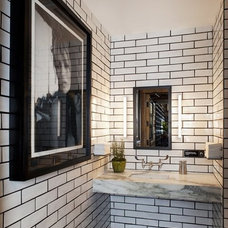 The Aestate: White subway tile with black grout?