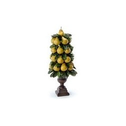 "Pear topiary in urn - Pear cone shaped topiary in rust classic urn.Dimensions: 29""H x 13""W x 13""D Unboxed Weight: 7.7 lbs. Boxed Weight: 12 lbs"