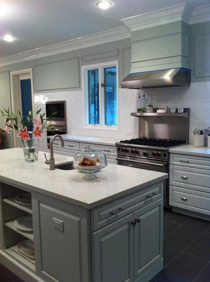 Houzz Gray Kitchen Cabinets