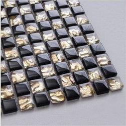 2013 New glass stone metal blend mosaic tile for kitchen backsplash CTN0008 - Material: glass