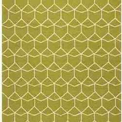 Jaipur - Barcelona BA68 Green Rectangular: 2 Ft. x 3 Ft. Rug - - Inspired by the rich history and range of design movements that have defined the architecture of Spain's cultural center the Barcelona Collection brings a transitional flair to any indoor or outdoor space. Whether the style leans towards fun boldly-scaled flourishes or understated simplicity this broad range offers something for every taste. Artfully developed in hand-hooked polypropylene Barcelona pairs the durability necessary to withstand the elements with the colorful spirit of the Catalonian countryside   - Construction: Hand-Hooked        - Indoor/Outdoor  - Pile Height: 0.25-Inch    - Care Instructions: Polyester is dirt and stain resistant and will look great for a long time just by vacuuming regularly Dries fast so deep steam/rug cleaning works great to release dirt from fiber If spills occur blot immediately Use rug/carpet cleaners that are safe on synthetic fibers Use professional cleaning agents only and to vacuum use an attachment arm or suction only to remove dirt particles. Jaipur - RUG117522
