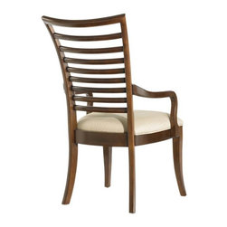 Stanley - Hudson Street Slat Back Arm Chair - Hudson Street reflects a vibrant and metropolitan self-assured elegance. Exhibiting an air of confidence and a casual touch of glamour, the group appeals to those with a heightened sense of style.