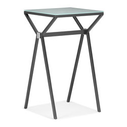 Zuo Modern - Zuo Modern Xert Modern Bar Table X-481106 - Relax and sip on a martini with our Xert bar series. Table has a painted glass top on a sturdy steel base. Perfect for entertaining in style.