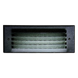 "Progress Lighting - Progress Lighting P6805-31 Step Lights One Light Step Lights In Black - Cast aluminum housing with black metal louver. Three 1/2"" I.P. conduit entries. For wood, brick, masonry, and poured concrete installations. UL & CUL listed for wet locations.120v NPF ballast."