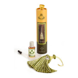 Frontgate - Agraria Lemon Verbena Tassel Aire - Included 1 oz. bottle of refresher oil allows you to add more fragrance whenever you desire. Brisk, bright fragrance evokes the fresh, clear exuberance of lemon-scented verbena leaves, enhanced with a touch of Caribbean lime and hints of rose and jasmine. Handsomely packaged in a slim container. Agraria's Lemon Verbena TasselAire is a unique perfumed tassel that can be used in every room of your home to add an unexpected fragrance experience. Hang one on a doorknob, closet hook, or armoire key, or use one with tie-back curtains or on a draped bed.  .  .  . Made in the USA.