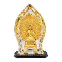 Franz Porcelain - FRANZ PORCELAIN COLLECTION Sakyamuni Buddha Lucite Sculpture FL00059 - Finished In Lead Free Glazes * Hand Painted By Franz Porcelain Artisans * FDA Approved Food/Plant Safe * New In The Original Box