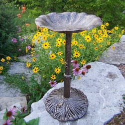 Oakland Living Lily Bird Bath - Additional FeaturesSome assembly requiredLimited 1-year warranty