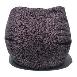 Bean Bag Boys - Bean Bag Boys Fabric Bean Bag Chair in Bobcat / Lilac - Pear-shaped design offers back support or rounded appearance as needed. Complies with voluntary CPSC guidelines for zipper closures. 100% recyclable product. Product is refillable proudly made in the U.S.A double-stitched with clear nylon for added strength.