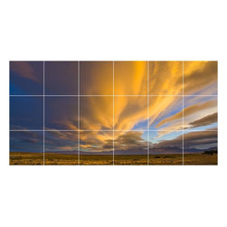 Picture-Tiles, LLC - Sky Clouds Picture Wall Back Splash Tile Mural  18 x 36 - * Sky Clouds Picture Wall Back Splash Tile Mural 1435