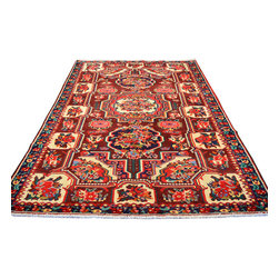 Persian Karabagh Area Rug, 5'X10' Mint Cond Gallery Size Hand Knotted Rug SH8507 - Hand Knotted Persian Rugs From Iran are know to be the highest quality rugs from around the world.  The weavers from Iran are also known to be the most skilled.  There's many different persian designs and these designs are derived from the city that they're woven in.