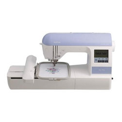 """Brother Sewing - Embroidery Machine USB Port - Brother PE770 5"""" x 7"""" Embroidery-only machine with built-in memory USB port 6 lettering fonts and 136 built-in designs - Expansive 5"""" x 7"""" field and back lit LCD display screen. Enjoy ample space for larger designs and lettering and combine designs with less rehooping. Easily view your designs and editing options on the large back lit display before stitching. 136 built-in embroidery designs and 6 lettering fonts. Designs include beautiful scrollwork florals and quilt patterns; plus 10 frame shapes and 12 border styles. Virtually unlimited design options with built-in memory. Import designs from your USB memory stick with the USB port or memory card designs with the built-in card slot. Store your purchased or custom edited designs to built-in memory for future use. Extensive design editing. Rotate mirror-image increase and decrease the size of your designs and see how your edited design looks on the large easy-view back lit LCD display before stitching."""