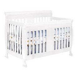 Da Vinci - DaVinci Porter 4-in-1 convertible Crib  in White Including Toddler Rails - Da Vinci - Cribs - M8501W - Crafted as meticulously as all DaVinci products are, the Porter Crib will keep your baby safe in his slumber. With easy conversions, the crib turns into a toddler bed, daybed, and full size bed when your baby is ready. Its sturdiness and classic lines are sure to make the Porter the centerpiece of your nursery. Available in cherry, espresso, and white.