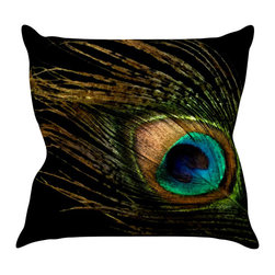"Kess InHouse - Alison Coxon ""Peacock Black"" Throw Pillow (20"" x 20"") - Rest among the art you love. Transform your hang out room into a hip gallery, that's also comfortable. With this pillow you can create an environment that reflects your unique style. It's amazing what a throw pillow can do to complete a room. (Kess InHouse is not responsible for pillow fighting that may occur as the result of creative stimulation)."