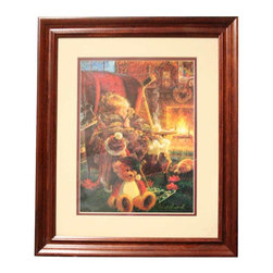 """Renovators Supply - Prints Toasty Warm Print Cherry Fin Wood Frame 15.5"""" W x 18.5"""" H 