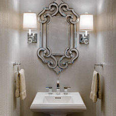 Traditional Powder Room by Design Connection, Inc