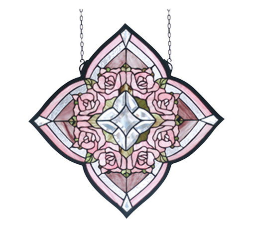 Meyda - Ring of Roses Window - Color theme: Pink CA 59 clear