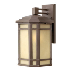 Hinkley Lighting - CherryCreek Medium Wall Outdoor - Cherry Creek's modern take on the popular Arts and Crafts style has a timeless appeal. The cast aluminum construction is enhanced by the warmth of the finish and the vintage-looking glass.