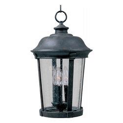 Joshua Marshal - Three Light Bronze Seedy Glass Hanging Lantern - Three Light Bronze Seedy Glass Hanging Lantern