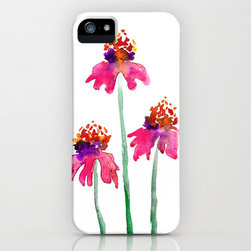 Floral iPhone Watercolor Echinacea Case by Brazen Design Studio - Welcome spring with this feminine and vibrant echinacea iPhone 5 case. We girls change our cases with the season (or outfit), you know!