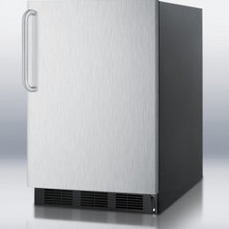 """Summit - AL750BI Series AL752BBISSTB 24"""" Compact All-Refrigerator with 5.5 cu. ft.  Adjus - Summit39s AL752BBISSTB compact refrigerator from the AL750BI series is conveniently sized at 32 inches high and less than 24 inches wide to fit into tight spaces The flexible design of this refrigerator allows one to use it as a built-in unit or a fr..."""