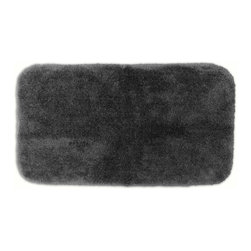 None - Posh Plush Charcoal Washable 30x50 inch Bath Rug - Revel in spa-like luxury every time you step into your bath with the Posh Plush collection of bath rugs. The amazingly soft, yet durable, nylon plush is machine washable has a non-skid latex backing for safety.