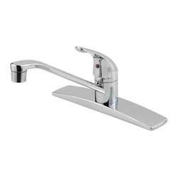 PRICE PFISTER - Lead Law Compliant 1.75 Gpm 1 Handle Kitchen Less Spray - Mid-arc spout to help provide easy access