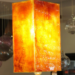 Fused glass pendant lighting - Shavit