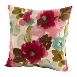 Cyan Design - Cyan Design Zinnia Pillow in Fuschia & White - Cyan Design Zinnia Pillow in Fuschia & White from Decorative Pillows Collection