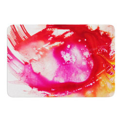 """KESS InHouse - Malia Shields """"The Color River II"""" Pink Red Memory Foam Bath Mat (24"""" x 36"""") - These super absorbent bath mats will add comfort and style to your bathroom. These memory foam mats will feel like you are in a spa every time you step out of the shower. Available in two sizes, 17"""" x 24"""" and 24"""" x 36"""", with a .5"""" thickness and non skid backing, these will fit every style of bathroom. Add comfort like never before in front of your vanity, sink, bathtub, shower or even laundry room. Machine wash cold, gentle cycle, tumble dry low or lay flat to dry. Printed on single side."""