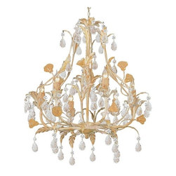 Crystorama Lighting Group - Athena Mini Crystal Chandelier - Athena Collection 6-light crystal chandelier by Crystorama. Add the final touch to your girls bedroom or baby's nursery with this gorgeous Crystorama hand painted wrought iron chandelier, featured in a Champagne finish and is adorned with beautiful hand cut Italian crystals!