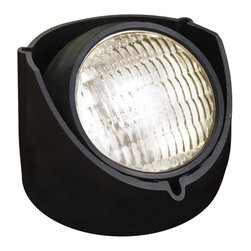 LANDSCAPE - LANDSCAPE Rubber Boot Held PAR 36 Outdoor Well Light X-KB88451 - This Kichler Lighting outdoor well light can be installed as a semi-recessed or flush mounted fixture. The Black finish is paired with a textured lens that diffuses light in the desired direction.
