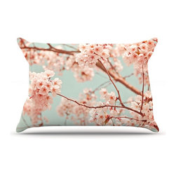 "Kess InHouse - Iris Lehnhardt ""Blossoms All Over"" Flowers Pillow Case, Standard (30"" x 20"") - This pillowcase, is just as bunny soft as the Kess InHouse duvet. It's made of microfiber velvety fleece. This machine washable fleece pillow case is the perfect accent to any duvet. Be your Bed's Curator."