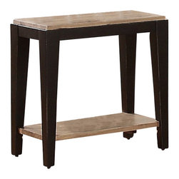 Riverside Furniture - Riverside Furniture Canal Street Chairside Table in Smoky Driftwood/Midnight Bla - Riverside Furniture - End Tables - 17612 - Riverside's products are designed and constructed for use in the home and are generally not intended for rental commercial institutional or other applications not considered to be household usage.