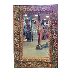 Hand Carved Square Mirror Frame with Mirror Indian Wooden Furniture $545 - http://www.mogulinterior.com/hand-carved-square-mirror-frame-with-mirror-indian-wooden-furniture.html