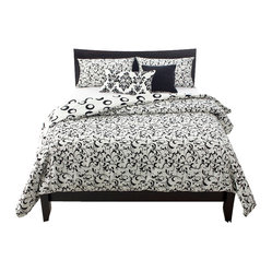 SIS Covers - Captiva Duvet Set, Twin - All duvet covers are reversible for easy redecorating