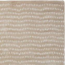 Serena & Lily - Natural River Rock Rug - The meandering dots of this plush wool rug add a beautiful organic pattern to the room. The palette subtle enough to work in almost any environment. A band of solid color at each end adds a nice grounding detail.