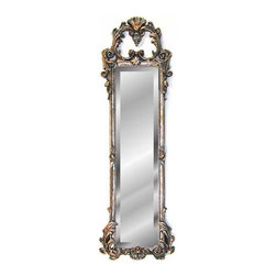 Hickory Manor House - 38 in. Ornate Strip Mirror in Shimmer Finish - Vintage original. Custom made by artisans unfortunately no returns allowed. Enhance your decor with this graceful mirror. Made in the USA. Made of pecan shell resin. 12 in. W x 38 in. H (10 lbs.)
